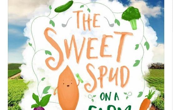 Sweet spud on a farm logo
